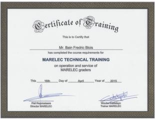 Marelec Training Bain Apr 2015