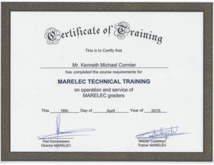 Marelec Training-Ken April 2015